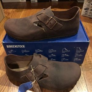 Birkenstock London brown leather 13 narrow men's